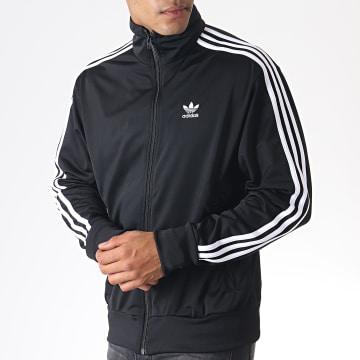 Adidas Originals - Veste Zippée A Bandes Firebird TT DV1530 Noir Blanc
