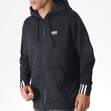 Sweat Zippé Capuche Vocal FZ ED7230 Noir