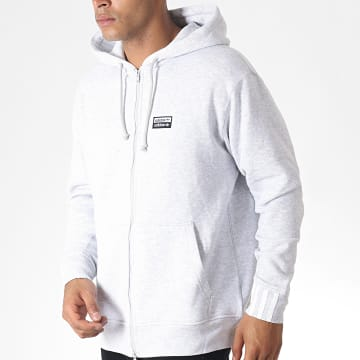 Sweat Zippé Capuche Vocal FZ ED7232 Gris Chiné
