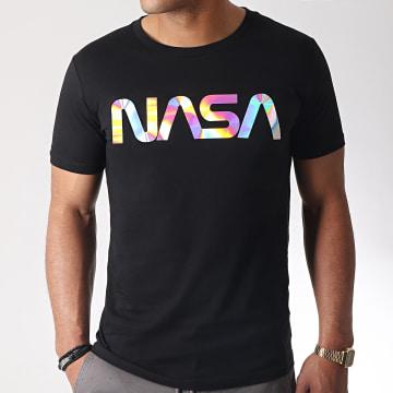 Tee Shirt Iridescent Worm Logo Noir