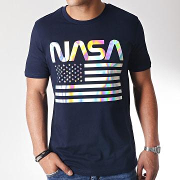 Tee Shirt Iridescent USA Bleu Marine