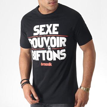 Tee Shirt Sex Pouvoir Biff Noir