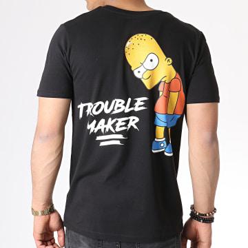 The Simpsons - Tee Shirt Trouble Maker Noir