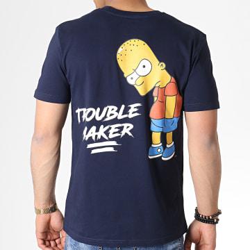 The Simpsons - Tee Shirt Trouble Maker Bleu Marine