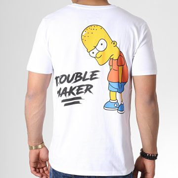 Tee Shirt Trouble Maker Blanc