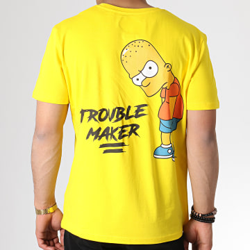 The Simpsons - Tee Shirt Trouble Maker Jaune