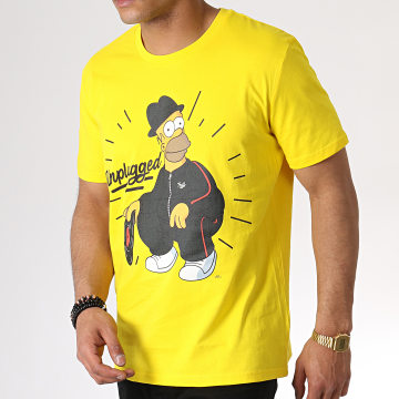 The Simpsons - Tee Shirt Unplugged Jaune