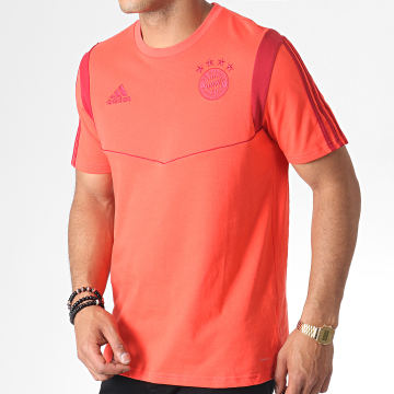 Adidas Performance - Tee Shirt A Bandes FC Bayern DX9188 Orange Bordeaux