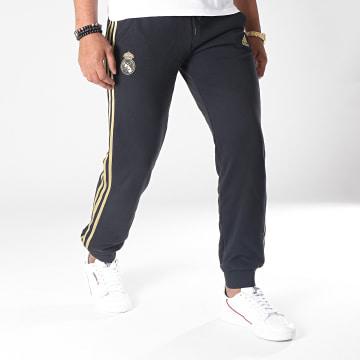Pantalon Jogging A Bandes Real Madrid DX7865 Noir Doré