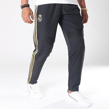 Pantalon Jogging A Bandes Real Madrid Wov DX7839 Noir Doré