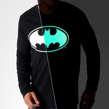 DC Comics - Tee Shirt Manches Longues Glow In The Dark Noir