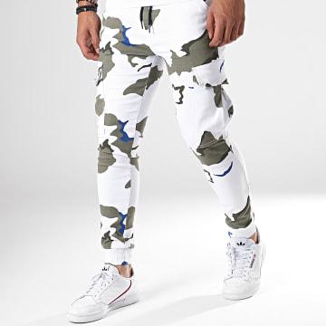 Pantalon Cargo P2820 Vert Kaki Blanc Camouflage