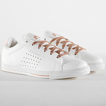 Le Coq Sportif - Baskets Femme Agate Boutique Premium 1920237 Optical White Cloud Pink