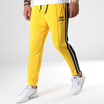 Pantalon Jogging A Bandes UPP41 Jaune Noir Blanc