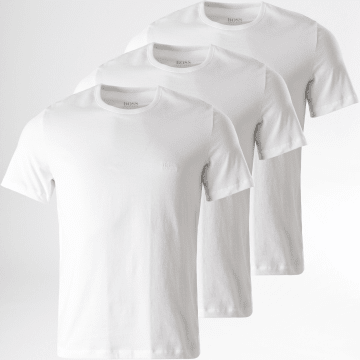 BOSS - Lot De 3 Tee Shirts 50325388 Blanc