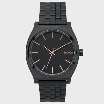 Nixon - Montre Femme Time Teller A045-957 All Black Rose Gold