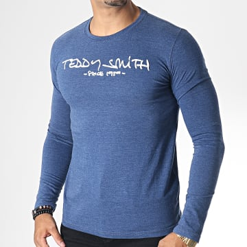 Tee Shirt Manches Longues Ticlass 3 Bleu Chiné Blanc