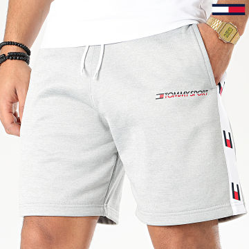 Tommy Sport - Short Jogging A Bandes Knit 0135 Gris Chiné