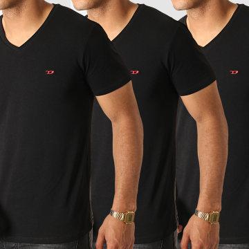 Lot de 3 Tee Shirt Col V All Timers Michael 00SHGU-0WAVC Noir