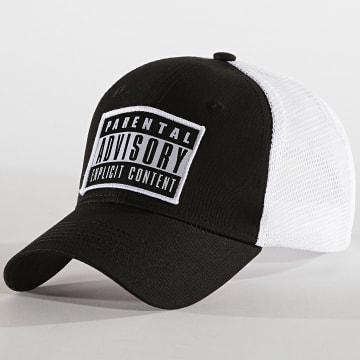 Parental Advisory - Casquette Trucker Patch Noir Blanc