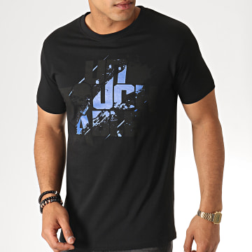 Untouchable - Tee Shirt Splatter Noir Bleu