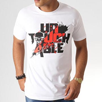 Untouchable - Tee Shirt Splatter Blanc Noir Rouge