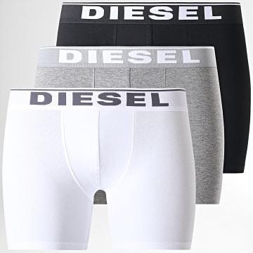 Diesel - Lot de 3 Boxers Damien 00SKME-0JKKB Noir Gris chiné Blanc