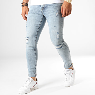 GRJ Denim - Jean Slim 13852 Bleu Wash