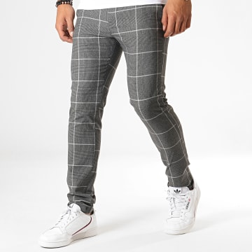 MTX - Pantalon A Carreaux 200 Gris Anthracite