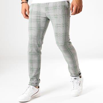 MTX - Pantalon A Carreaux 234 Gris Vert