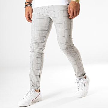 MTX - Pantalon A Carreaux 1020 Gris Chiné