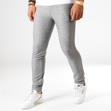 MTX - Pantalon A Carreaux 1010 Gris