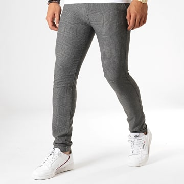 MTX - Pantalon A Carreaux 1007 Gris Anthracite