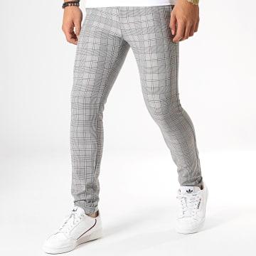 Pantalon A Carreaux 1009 Gris