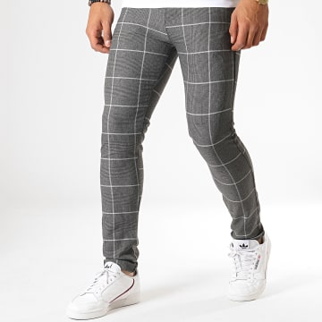 MTX - Pantalon A Carreaux 1001 Gris Anthracite