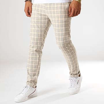 MTX - Pantalon A Carreaux 214 Ecru