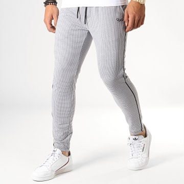 Project X - Pantalon A Carreaux Avec Bandes 1940025 Gris