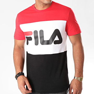 Fila - Tee Shirt Day 681244 Rouge Blanc Noir