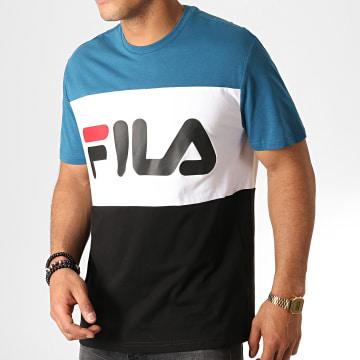 Fila - Tee Shirt Day 681244 Noir Blanc Bleu Marine