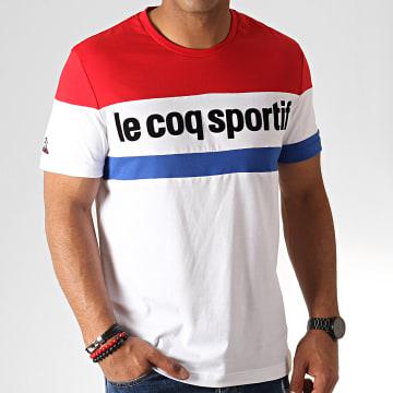 Tee Shirt Tricolore N1 1920483 Blanc Rouge Bleu Roi
