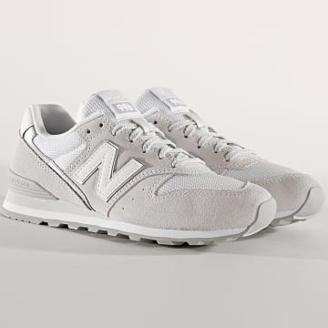 New Balance - Baskets Femme Classics 996 738731-50 Gris Clair Blanc