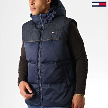 Tommy Jeans - Doudoune Sans Manches Fabric Mix 6653 Bleu Marine Bleu Brut