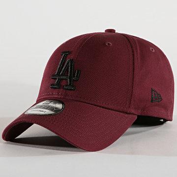 New Era - Casquette Baseball 9Forty League Essential 94 Los Angeles Dodgers 12062854 Bordeaux Noir