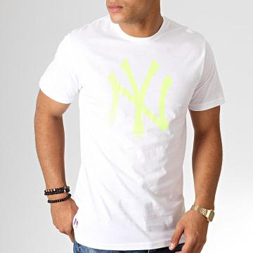 Tee Shirt MLB Core Neon Logo 12070293 Blanc Jaune Fluo