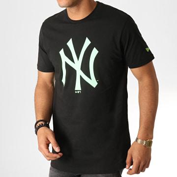 Tee Shirt MLB Core Neon Logo 12070294 Noir Vert Fluo