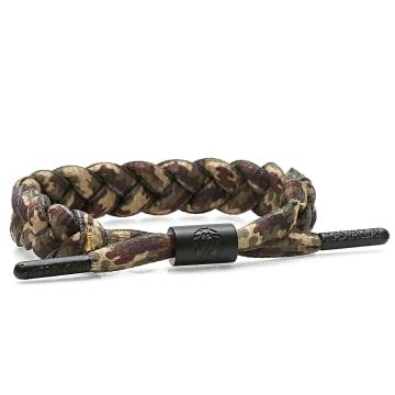 Rastaclat - Bracelet Woodland Camouflage 2 Vert Kaki