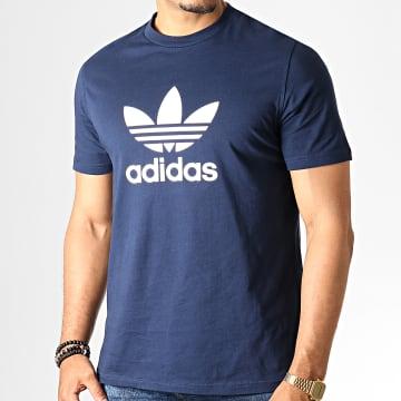 Tee Shirt Trefoil ED4715 Bleu Marine Blanc