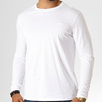 HUGO by Hugo Boss - Tee Shirt Manches Longues Reverse Logo Derol194 50414223 Blanc