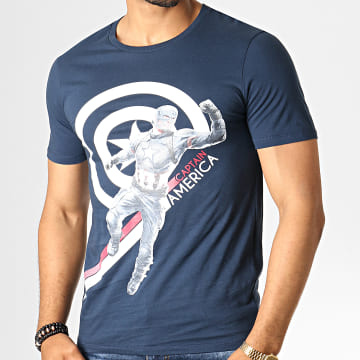 Captain America - Tee Shirt MEENDGMTS015 Bleu Marine