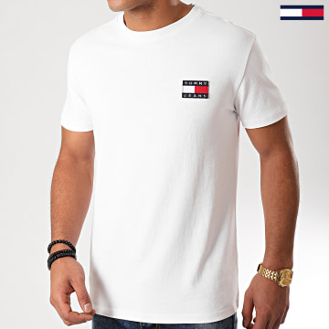 Tommy Jeans - Tee Shirt Badge 6595 Blanc